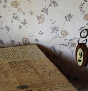 détail chambre Cretonne, chambre d'hotes de charme environs albi cordes gailac Domaine du Buc