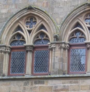 detail facade Cordes sur Ciel, Bastide albigeoise