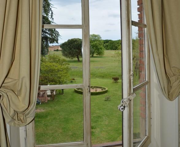 vue sur le parc, chambres d'hotes de charme albi