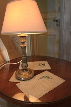 lettres de la  chambre d'hotes romantique
