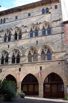 Facade Cordes sur Ciel ,  Bastide albigeoise