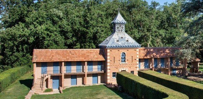 Domaine du Buc – Gite du pigeonnier – pmr-Vue de la terrasse du chateau